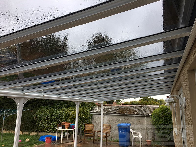 Tinted Glazing panels on this Glass Veranda installaiton