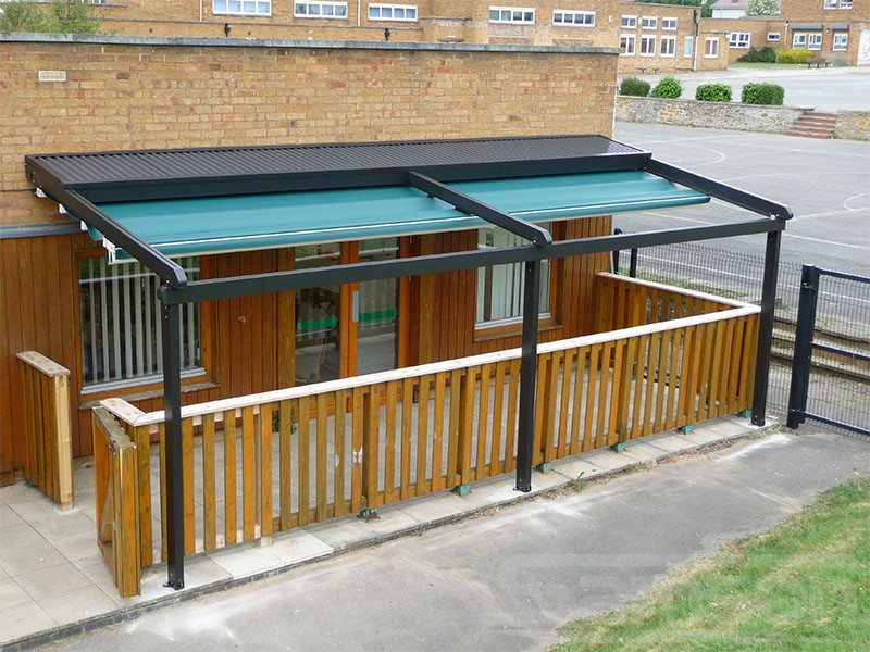 Retractable Roof System installation for School