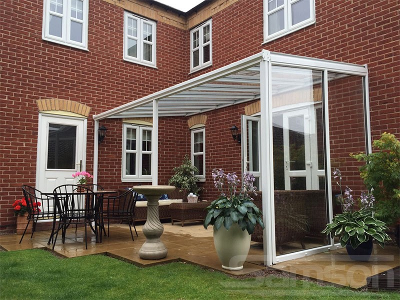 Glass Veranda with a glazed side