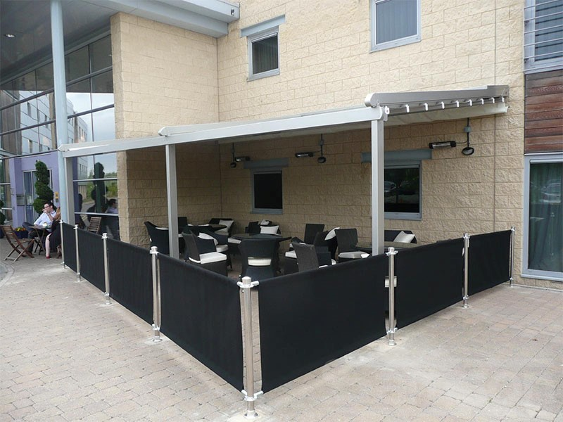 Retractable Roof System to extend restaurant outdoor seating