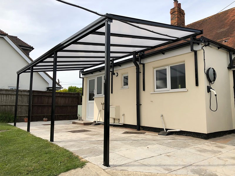 Polycarbonate Terrace Cover installation