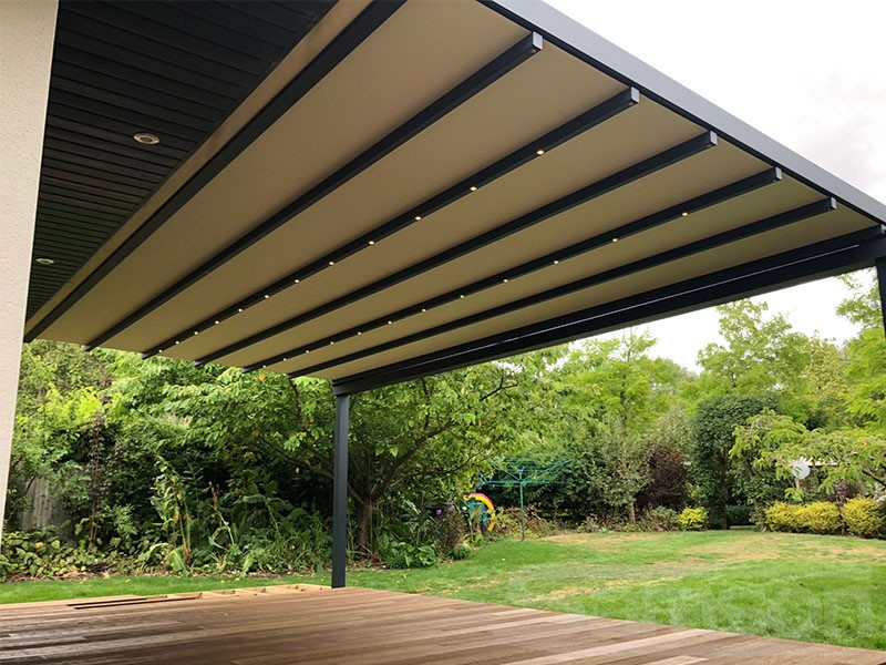 Retractable Roof System with integrated LED Lighting