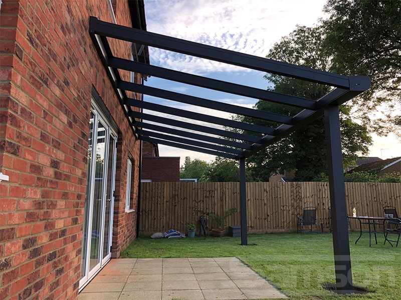 Glass Terrace Cover with integrated Guttering