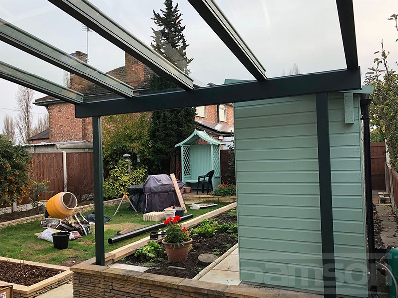 Small Garden Glass Veranda Installation
