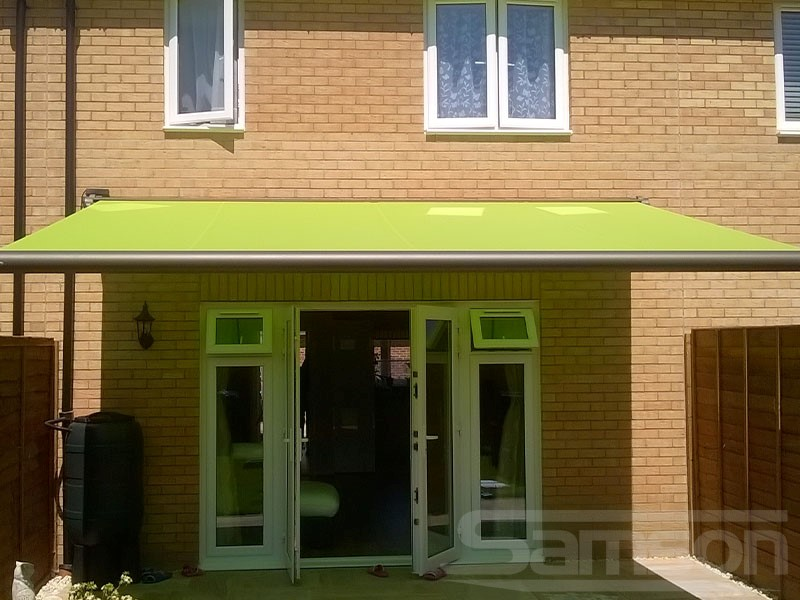 Eye Catching Retractable Awning Installation