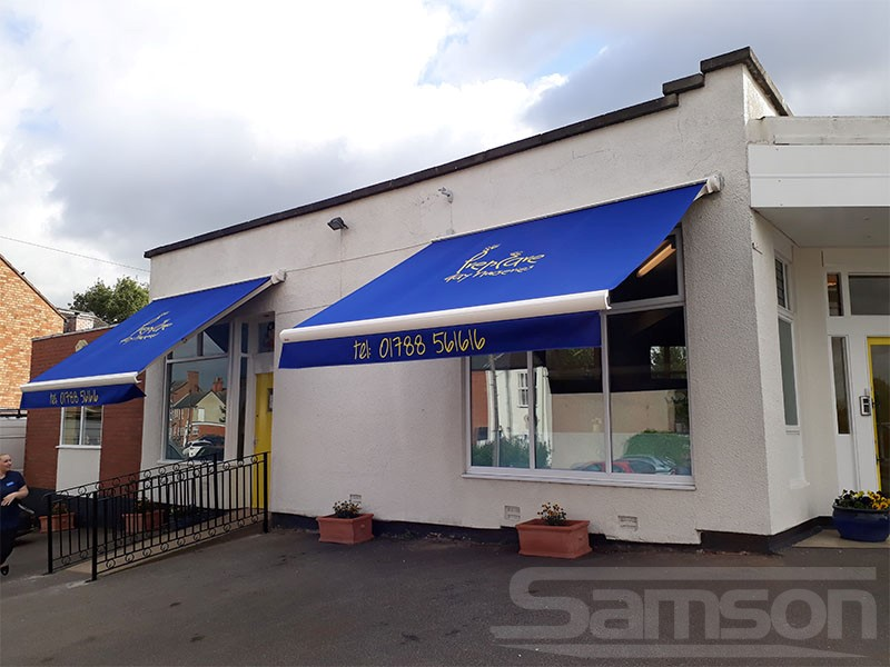 Multiple Branded Awnings and Valances Installation