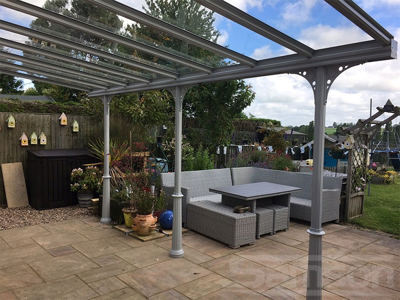 Glass Terrace Cover installed over Patio