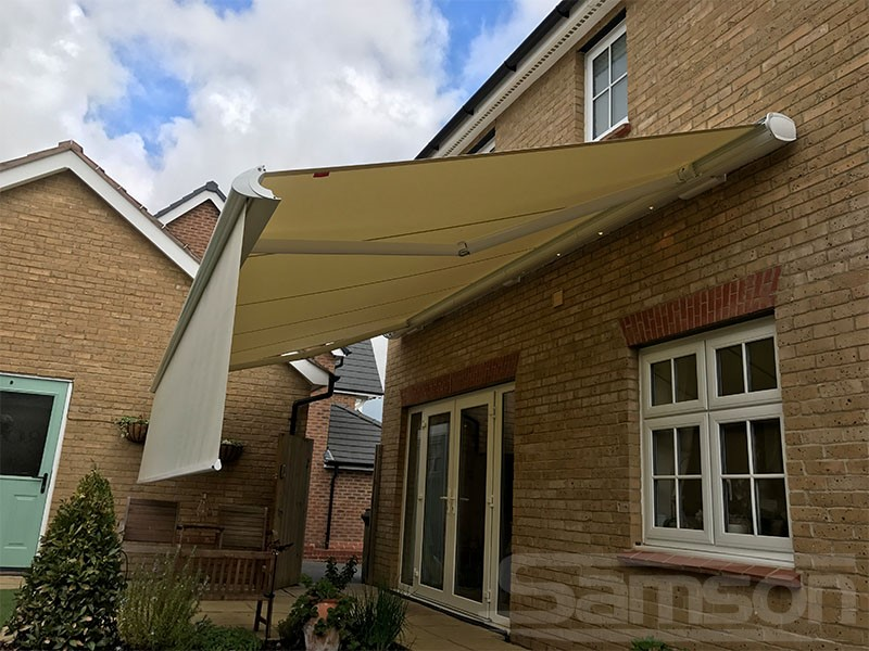 Retractable Awning with Drop Valance Installation