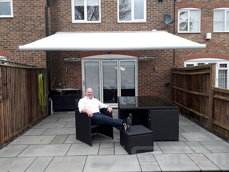 VIP installation on stunning White Retractable Awning