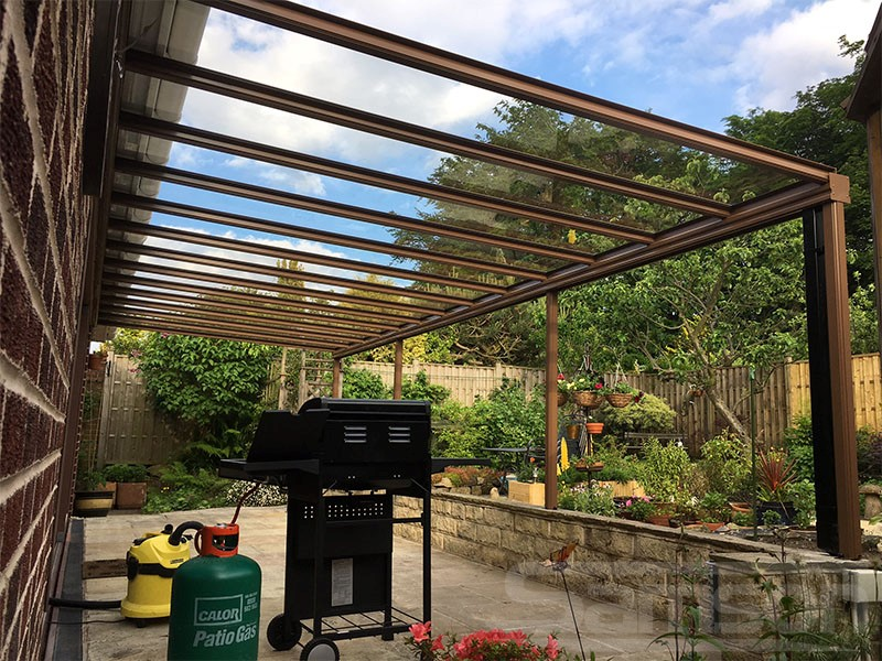 Glass Veranda over Patio Installation