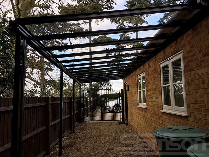 Glass Carport Installation