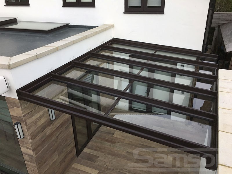 Glass Veranda System Installed Between buildings