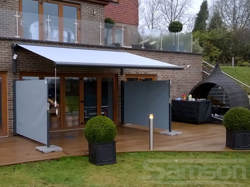Retractable Awning with Dual Side Screens installation