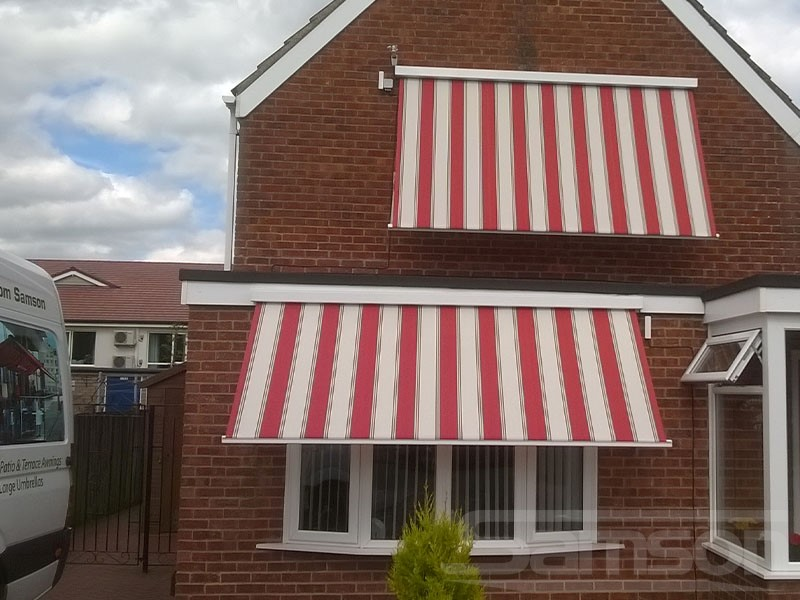 Muliple Pitched Awnings Installation