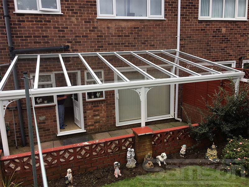 White Glass Veranda with Victorian upgrade Installation