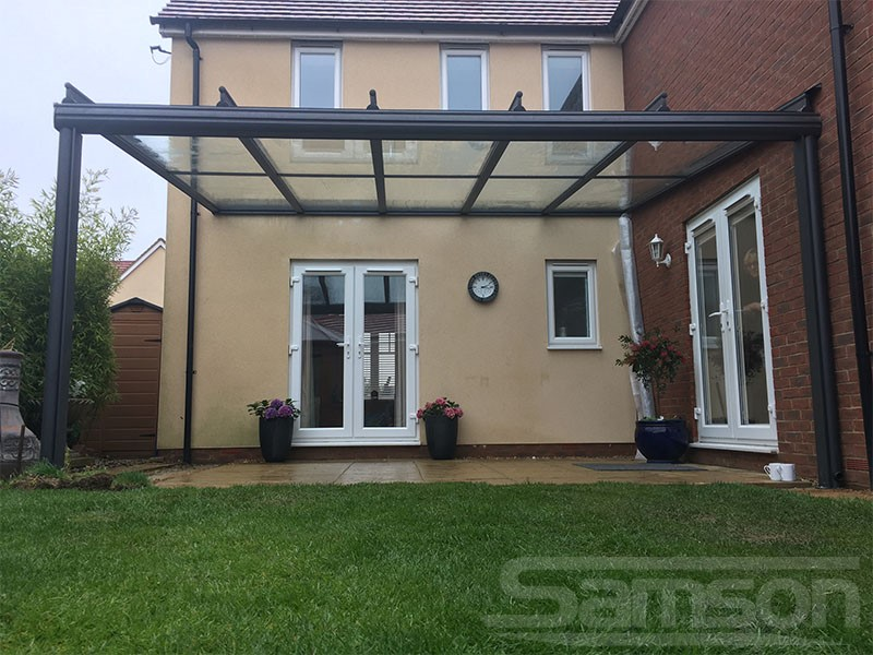 Glass Veranda Installation on New Build