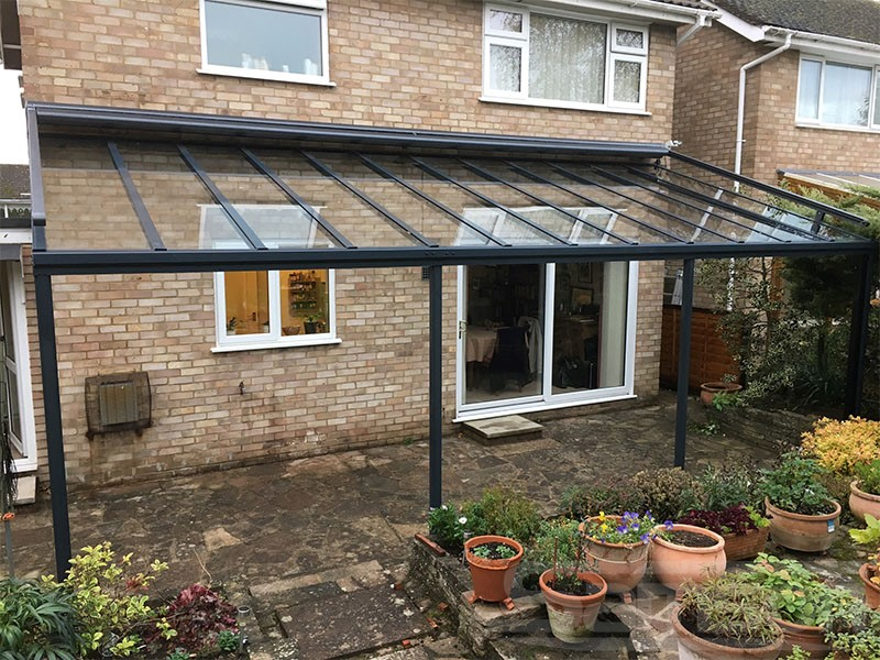 Multi Post Glass Roof Installation