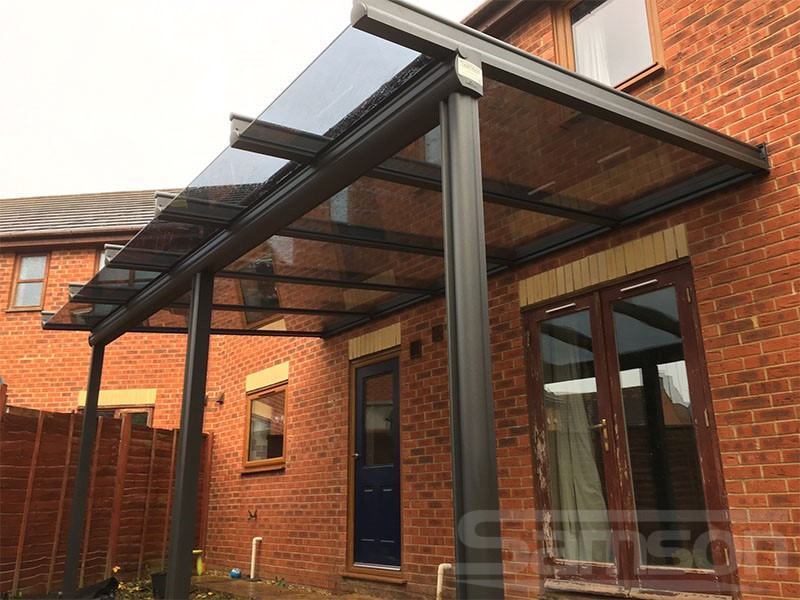 Tinted Glass Veranda Installation