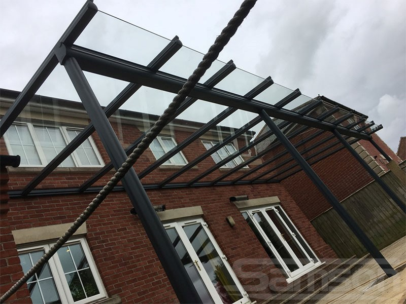 Glass Terrace Cover Installation