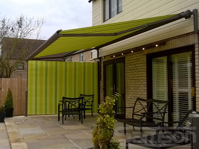 Awnings with LEDs and Side Screen Installation
