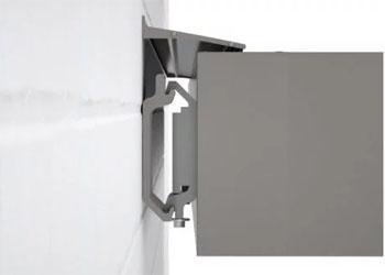 Slender full cassette design for the fabric awning