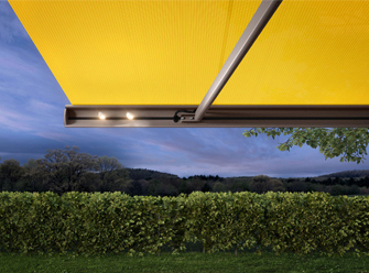 Markilux electric awning with lights