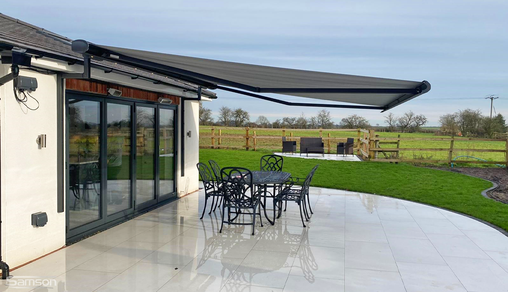 Cream Retractable Awning