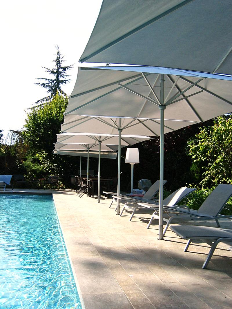 Umbrellas by Poolside