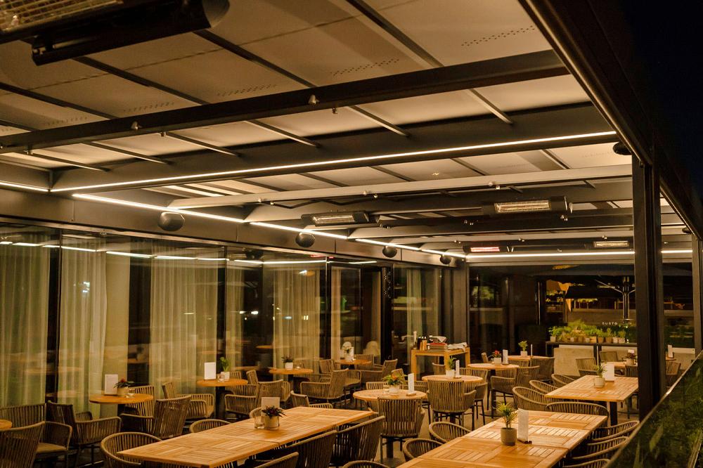 Large Markilux Markant System for Restaurant Area