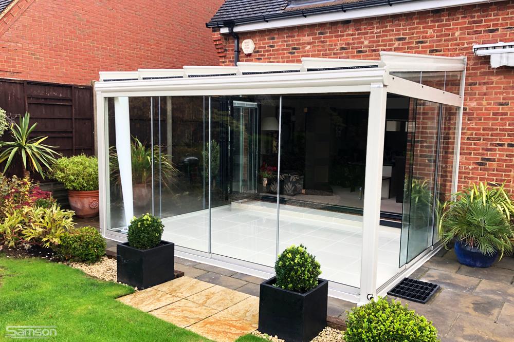 White Framed Garden Glass Room