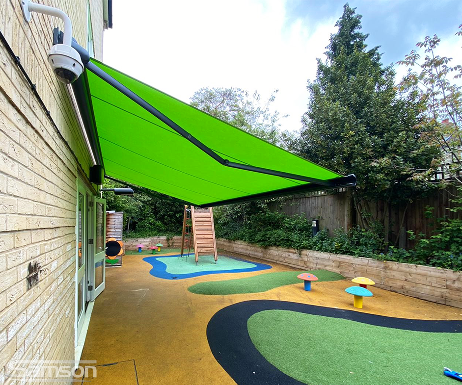 Green Retractable Awning