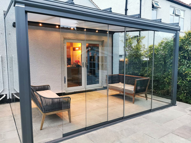 Weinor Glass Room with Anthracite Framing